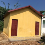 Built new bathrooms for two primary schools in remote villages in the North East of Vietnam